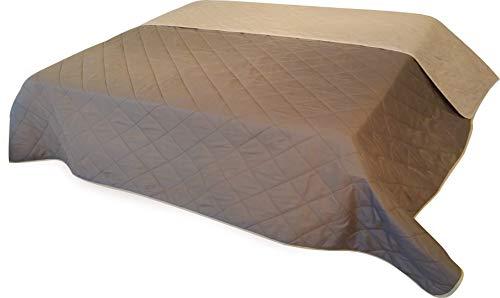 Tagesdecke XXL Allzweckdecke ca. 220x240 cm Patchwork Landhaus Sofa Bettüberwurf (VINTAGE Cappuccino)