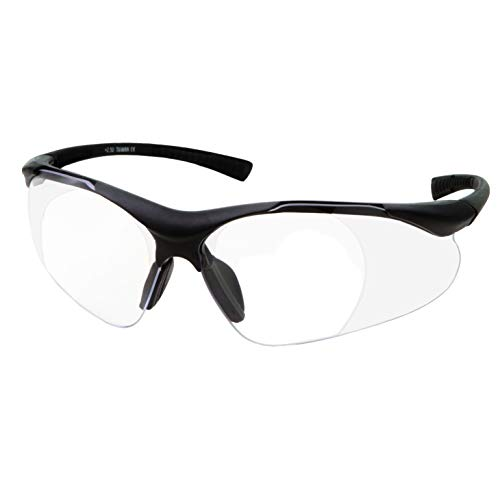 Full Lens Magnification Safety Glasses with Black...