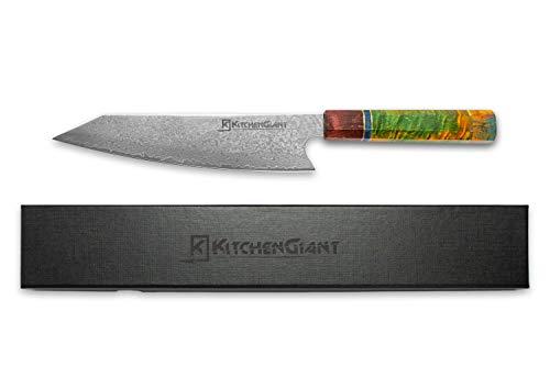 KitchenGiant Kiritsuke Damastmesser 67 Schichten VG10 Damaststahl Küchenmesser Einzigartiger Griff Kochmesser Profi Messer 8 Zoll Messer Hohe Qualität Stahlmesser-Ultra scharfe Messer