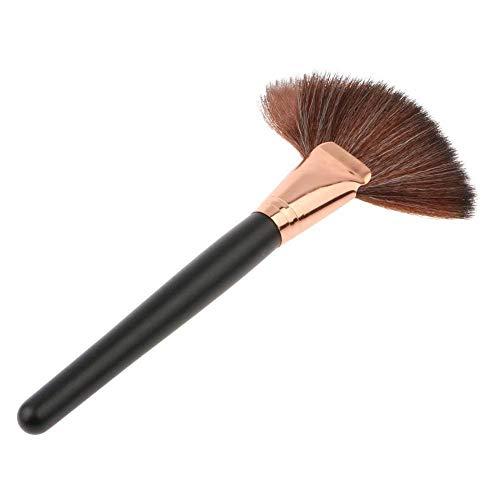 Gcroet 1PC Brosse De Maquillage Fan Surligneur Fard à Joues En Poudre Contour Brosse Brosse Secteur Visage Brosse CosméTiques Professionnels