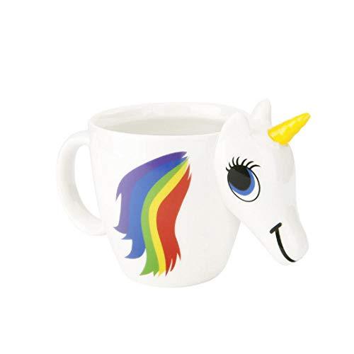 Taza de cerámica que cambia de color de unicornio Taza creativa Taza de agua en forma Taza de café de dibujos animados-Taza de cambio de color de unicornio_301-400ml