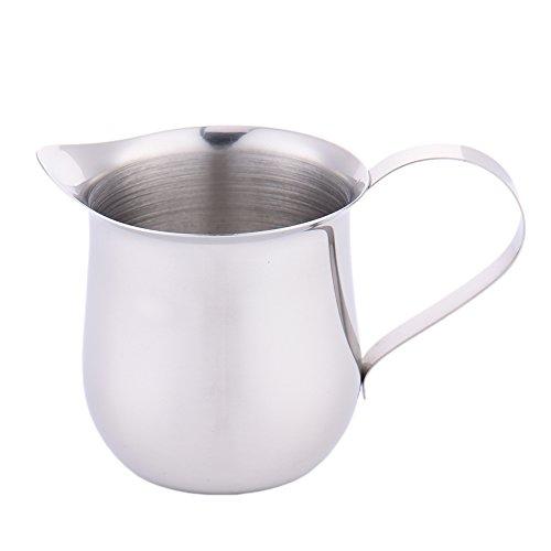 Gaeruite, bricco per latte in acciaio INOX, caraffa per il latte, bricco schiumalatte per preparare cappuccino, 60ml, 90ml, 150ml, 240ml, Acciaio inossidabile, As Show, 60 ml