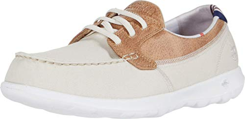 Skechers Women's GO Walk LITE-136070 Boat Shoe, Natural, 8.5 Medium US