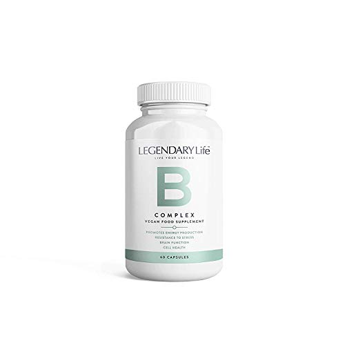 B Complex Vitamin Supplement by Legendary Life - 60 High Potency Capsules for Women & Men- Vegan - Allergen Free- Relieves Stress- Promotes Energy Production- Includes Daily Dose of Folic Acid