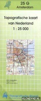 Topografische kaart van Nederland 1:25000: Amsterdam 25-G