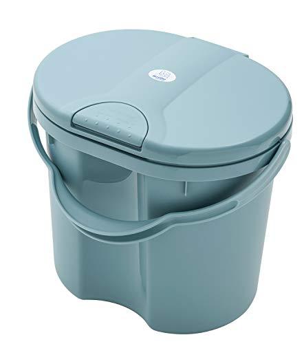 Rotho Babydesign - Poubelle 4L - TOP, Blue Pearl (Bleu Foncé), 200060020 Lagoon