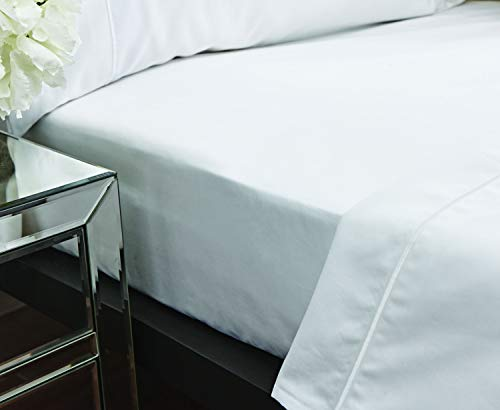 Bianca Luxury 800 Thread Count Cotton Sateen Super King Fitted Sheet White