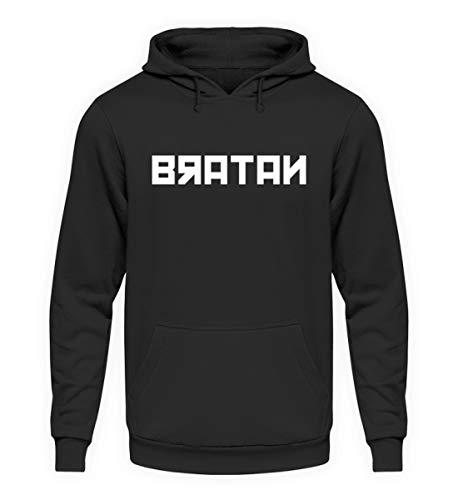 Bratan Tshirt Bro Hip Hop Rap Russland Russen Russisch Russian - Unisex Kapuzenpullover Hoodie -L-Jet Schwarz