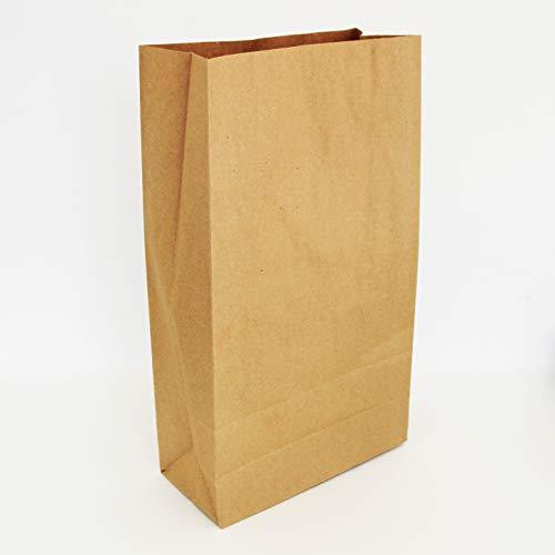 Lote de bolsas de bolsa de papel Kraft sin asa 34