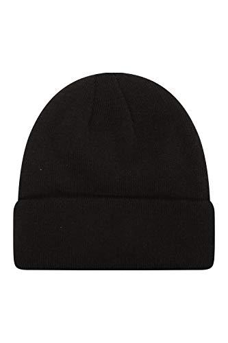 Mountain Warehouse Thinsulate Strickbeanie - Einheitsgröße, weicher Hut, Kappe in Strickoptik, doppelt gefüttert für extra Wärme - Für Skifahren oder Alltag, Winter Schwarz Medium/Large