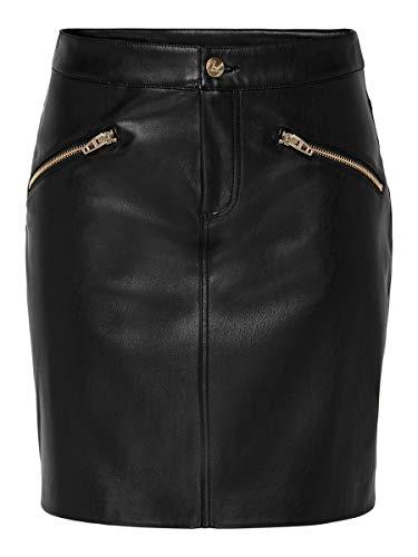 Only Onlheidi Faux Leather Skirt Otw Falda para Mujer
