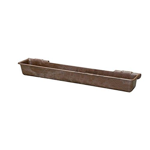 GetReyEU 'Vasca di plastica lungo, 100litri, Marrone da Appendere in tubi fino a 2–333160