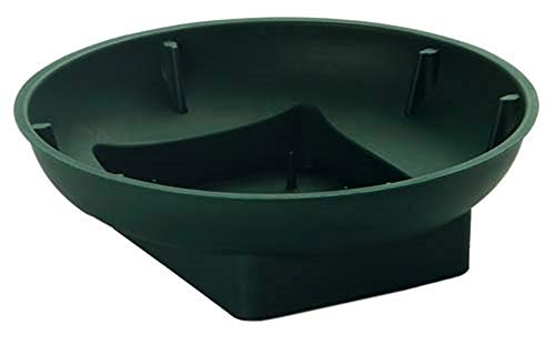 Floral Supply Online - Green Design Bowls for Flower Arrangements, Centerpieces, and Holiday Decorating. (6' Green, 12 Bowls)