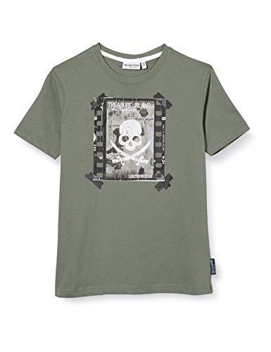 Salt & Pepper Jungen 03112172 T-Shirt, Grün (Khaki 690), 116 (Herstellergröße: 116/122)