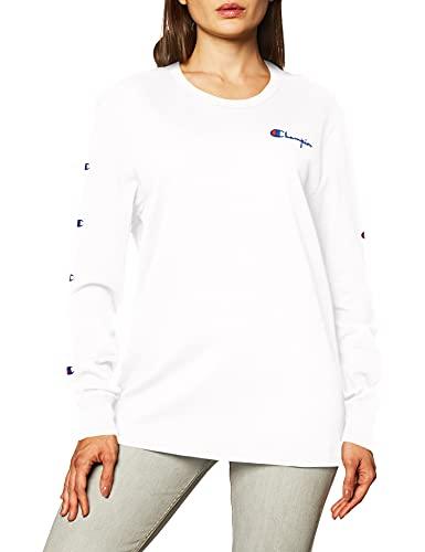Champion Camiseta de manga larga The Boyfriend para mujer - blanco - Small