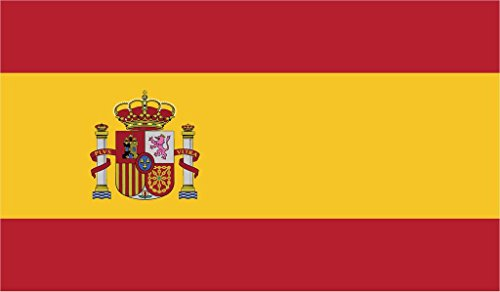JMM Industries Spain Flag Vinyl Decal Sticker Reino de España Spanish Spaniard Car Window Bumper 2-Pack 5-Inches by 3-Inches Premium Quality UV-Resistant Laminate PDS538