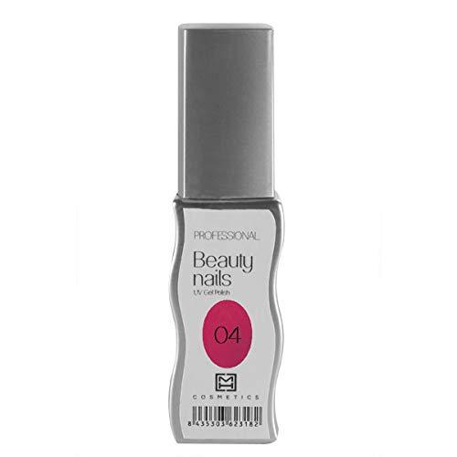 MH Cosmetics Gel Polish Semipermanent 004 parelmoer donkerroze, per stuk verpakt (1 x 10 ml)