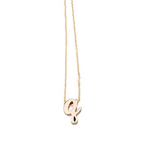 Halskette Frauen Alphabet Halskette weiblich einfache Schlüsselbeinkette Anhänger Gold (1Q)