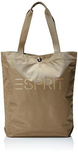 Esprit Accessoires Damen Noos Cleo Clshp Schultertasche, Beige), 10x39x28 cm