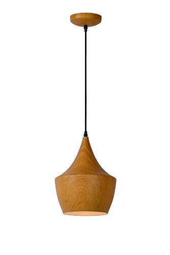 Lucide WOODY - Suspension - Ø 24 cm - Bois clair