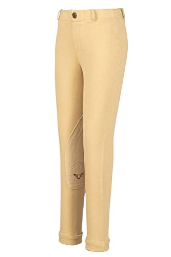 TuffRider Girl's Starter Lowrise Pull-On Jods Breech, Light Tan, 10