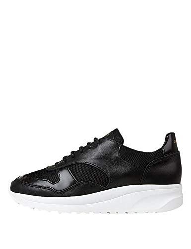 Jim Rickey Women's Race - Leather Sneakers Black in Size 41