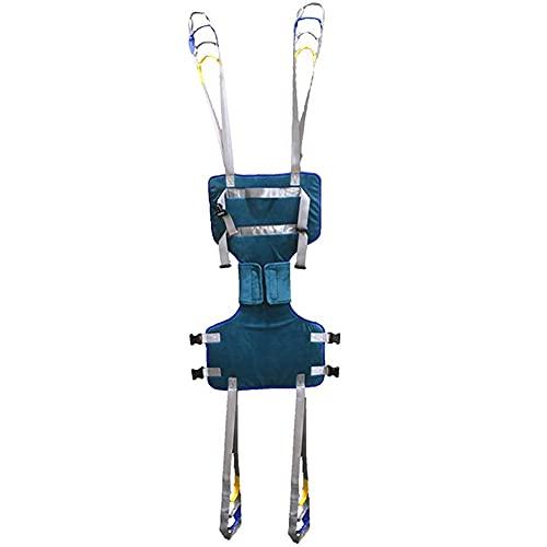Arnés para traslados, Arnés de Elevación de Paciente de Cuerpo Completo, Cinturón para Caminar Asistido por El Paciente, para grúa de 4 Pinzas, Superacolchado, para Posicionamiento Y Elevación De La C