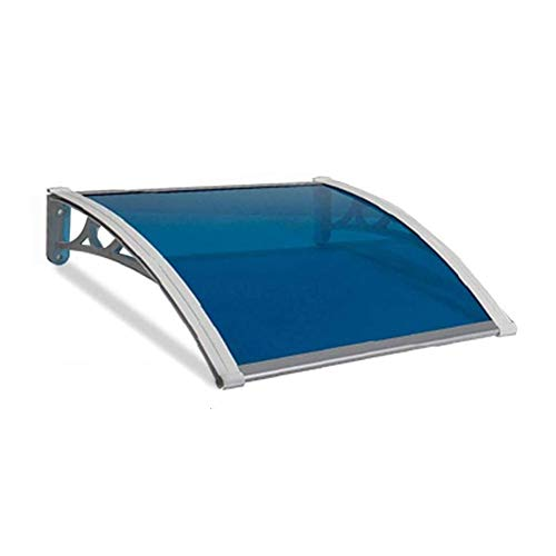 Canopy Door Awning Shelter Outdoor Garden Door Door Window Awning Patio Cover Multiple Size And Colour (Color : Blue, Size : 60cmx80cm)