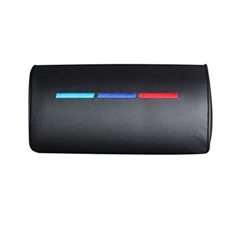 JYKJ Nackenkissen Car Styling Sitznackenkissen Schutz PU Auto Kopfstütze Stützrest Reisen Auto-Kopfstütze Neck for BMW /// M Zubehör (Color : Black 1 Pcs)
