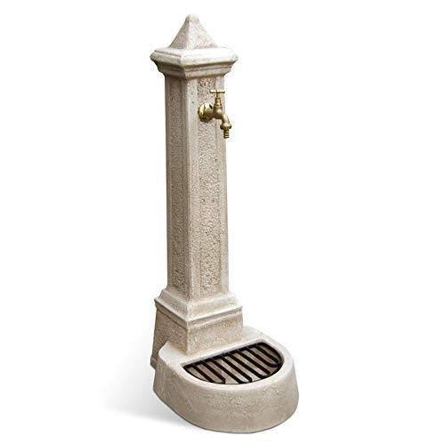 Fontana da Giardino Esterno in Cemento Pietra KAM modello LECCE colore Nocciola