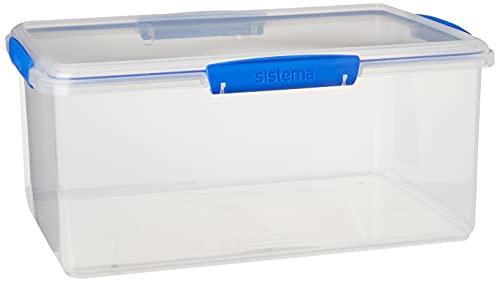 Sistema 1880 Storage Box, Plastic, 9.67 l, Light Blue, 16.00 x 36.00 x 24.00 cm