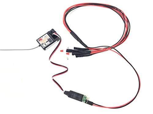 V-MAXZONE Luz de coche modelo duradero función de control remoto de tercer canal, luces de interruptor de coche accesorios (color predeterminado)