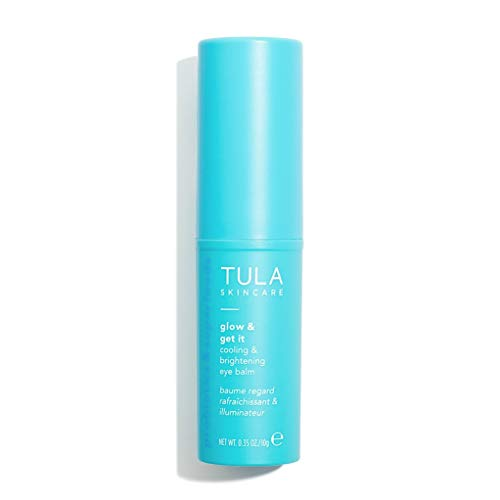 TULA Probiotic Skin Care Glow & Get It Cooling & Brightening Eye Balm | Dark Circle Under Eye Treatment, Instantly Hydrate and Brighten Undereye Area, Portable and Perfect to Use On-the-go | 0.35 oz