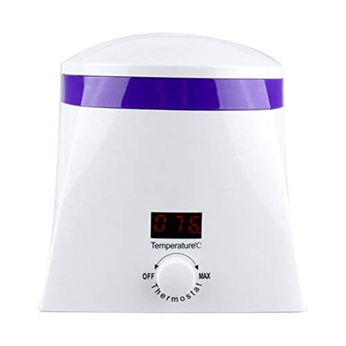 El calentador de la cera de la belleza, cuidado multiusos del retiro del pelo, con la pantalla llevada y ajusta la temperatura, pote desmontable, calentador eléctrico de la cera para el salón