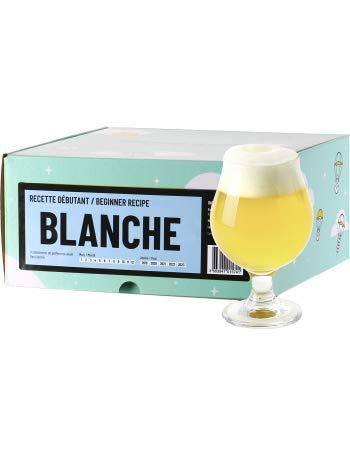 Recette Bière - Brassez Votre bière Maison à partir d'extrait de Malt en Poudre - Recharge Kit de Brassage Débutant - Cadeau (Bière Blanche)