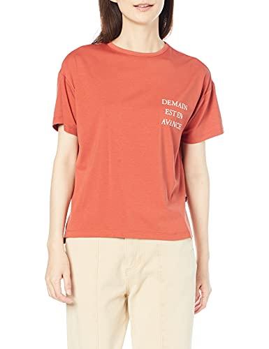 [プチオンフルール] 接触冷感ロゴプリントTシャツ レディス521805 レディース オレンジ M