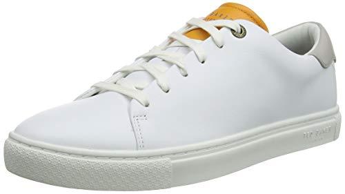 Ted Baker Herren MFK-LEEPOW-Leather Trainer Sneaker, Gelb (Yellow Yellow), 42 EU