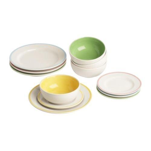 IKEA DUKTIG - Children's Plate/Bowl / 12 P