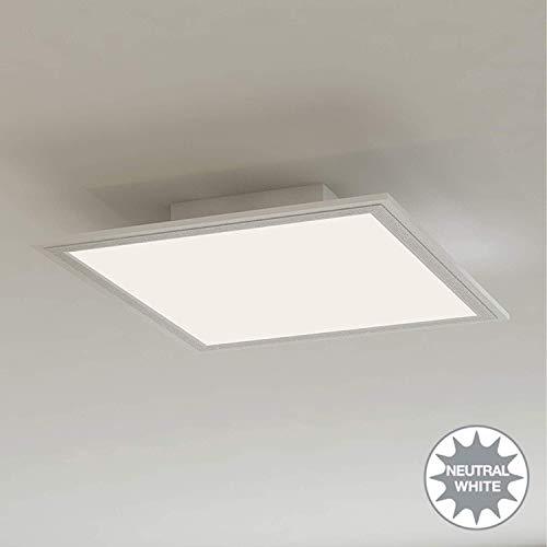 Briloner Leuchten Led-Plafondlamppaneel, Led-Lamp, Woonkamerlamp, Plafondlamp, Plafondspot, 12 W, Vierkant, Wit, 29,5 Cm