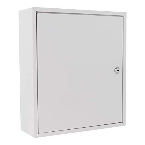 HomeDesign Safe HDS-M1 Medikamentenschrank, Stahlblech,  Zylinderschloss, Medizinschrank, Hausapotheke