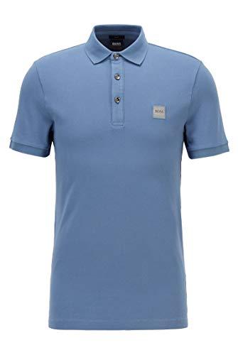 BOSS Herren Passenger Poloshirt aus gewaschenem Piqué mit Logo-Aufnäher