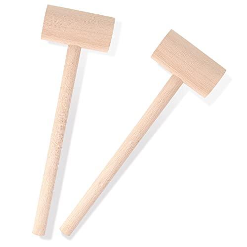 2Pcs Small Wooden Mallets