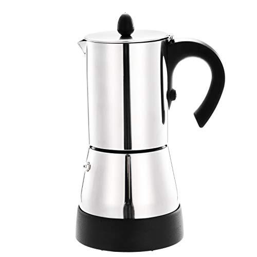 Nrkin Cafetera de aluminio, Moka Express, cafetera expreso, para camping, 300 ml