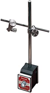 Starrett 657AA Magnetic Base Complete Set with Base, Upright Post, Rod, Attachment, and Two Snugs