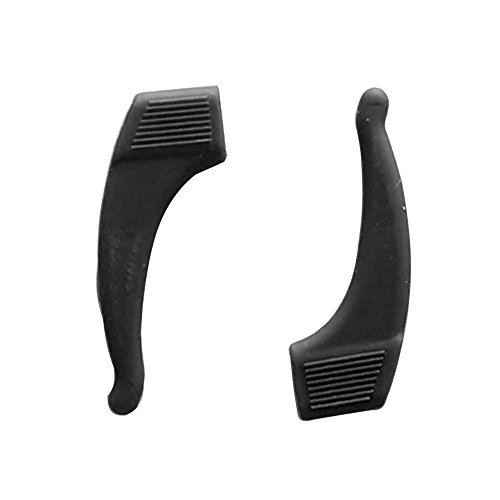 Silicona anti-slip bloqueo del oído 10 pares para adultos niños gafas anteojos accesorios estancia pone gancho de oreja apretones (negro)
