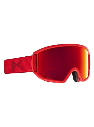 Anon Men's Relapse Goggle with Spare Lens and MFI Face Mask, Red/Perceive Sunny Red