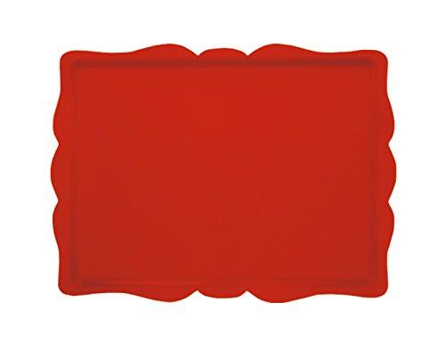 Platex 104433026SD Rococo Plateau Découpe Stratifié Rouge 44 x 33 x 0,5 cm
