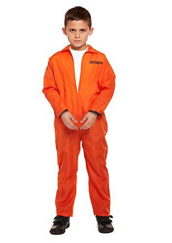 Niño Prisionero Trajes Traje Naranja Tamaño Mediano Edad 7 - 9 años
