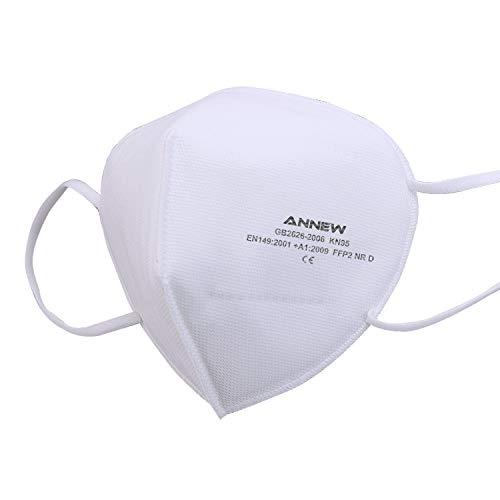 MASK 5 maschere per il viso Maschera KN95 / FFP2 Maschera protettiva per respiratore a 5 strati, maschera certificata CE per adulti