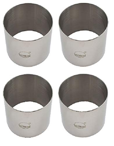 Plating Forms Stainless Steel Ring Mold Sets (4 Count) (3' X 2.75' (4 PK))